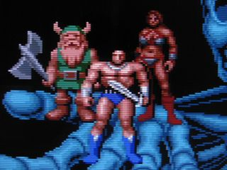 Golden Axe, upscanned with XRGB-3 with scanlines via RGB cable and VGA